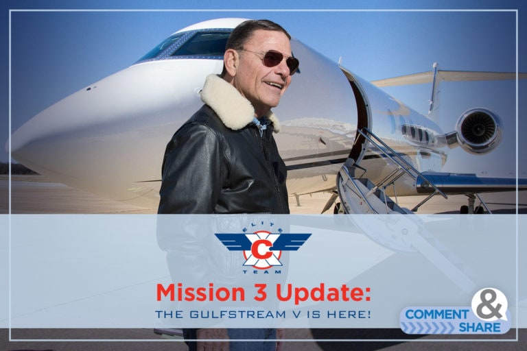 Glory to God!  It's Ours! The Gulfstream V is in our hands!